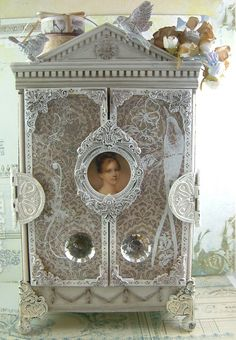 Altered cigar box into an ATC Armoire