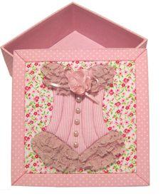 Caixa Lingerie, pode ser usada para guardar aquele conjunto especial de calcinha e sutiã ou dar de presente. <br>Personalizo sua caixa com diversas cores e estampas.