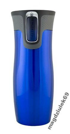 Kubek Contigo West Loop 470 ml blue - 4136224346 - oficjalne archiwum Allegro Water Bottle, Blue, Water Flask, Water Bottles