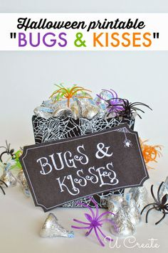 Bugs and Kisses Halloween Printable by U Create