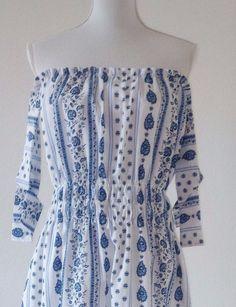 """Maxikleider - Off-Shoulder-Kleidchen """"Provence"""" - ein Designerstück von elbfeeberlin bei DaWanda"""