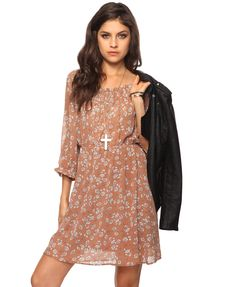 Ruffled Floral Dress | FOREVER21 - Another great site for finding this style of dress!