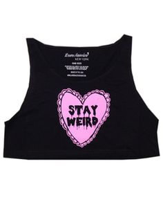 STAY WEIRD LOOSE CROP TOP at Shop Jeen - SHOP JEEN