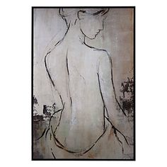 Art capturing the relaxation a woman feels after a rejuvenating spa day. $499.95