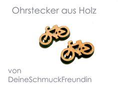 Ohrstecker - Ohrstecker Fahrrad Holz-Ohrstecker Rad - ein Designerstück von DeineSchmuckFreundin bei DaWanda