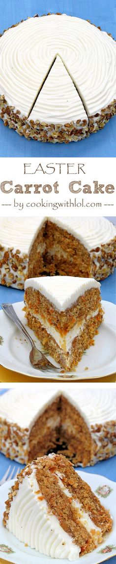 fondue dessert recipes, ice cream dessert recipes, traditional german dessert recipes - Make way for delicious Easter Carrot Cake with Cream Cheese Frosting on Cooking with LOL
