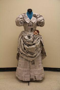 Newspaper dress                                                                                                                                                                                 More