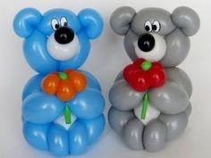 Ositos de globos facil - globoflexia paso a paso                                                                                                                                                      Más