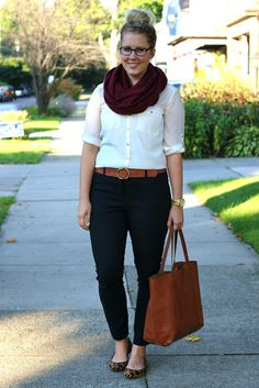 Black and brown and an infinity scarf | Frannish