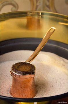 Copper and Silver Coffee Pot
