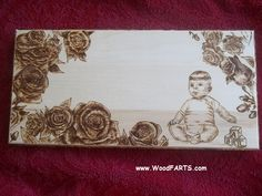Working on Baby Plaques.  Need to add a Baby name.  Make an order at www.WoodFARTS.com