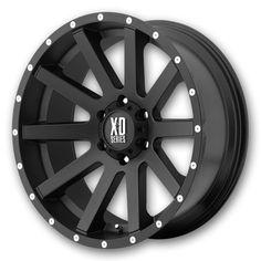 XD-Series Wheels XD818 Heist 20x10 Satin Black w/ Bead Lock Low Offset (XD-Series-Rims-XD818-Heist-20-10SBBLOCKL.s)