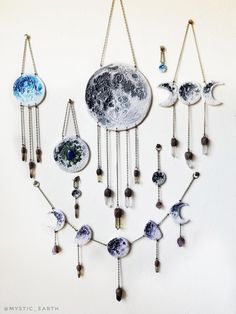 The Celestial Collection by Mystic Earth. Polymer clay and crystal wall art to adorn your home and altar. Only a few are left! Best Picture For Polymer Clay Crafts Crystal Wall, Crystal Decor, Diy Clay, Clay Crafts, Magic Crafts, Moon Crafts, Wiccan Decor, Moon Decor, Creation Deco