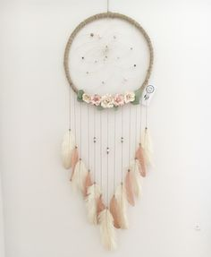 Floral dream catcher https://m.facebook.com/Catching-Dreams-by-Brooke-Steph-188706974808166/
