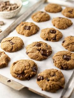 The best vegan buckwheat chocolate chip cookies! They are nut-free gluten-free grain-free dairy-free naturally sweetened and easy to make. Healthy Cookies, Healthy Desserts, Cookies Vegan, Chocolate Chip Cookies, Chocolate Ganache, Vegan Chocolate, Chocolate Chips, Cookies Sans Gluten, Buckwheat Recipes