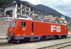 HGe 4/4 II 105 (Foto: Manfred Möldner) Chur, Train, Vehicles, Swiss Railways, Photos, Locomotive, Photo Illustration, Zug, Rolling Stock