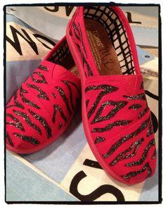 Zebra Custom Toms by CustomTOMSbyJC on Etsy, $75.00