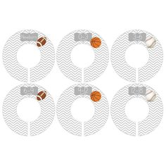 Gift Set of 6 Closet Organizer Dividers for Baby and Toddler Clothing with Sports Balls CDB041 ** Check out this great product. (This is an affiliate link) #BabyKeepsakeProducts