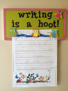 display writing