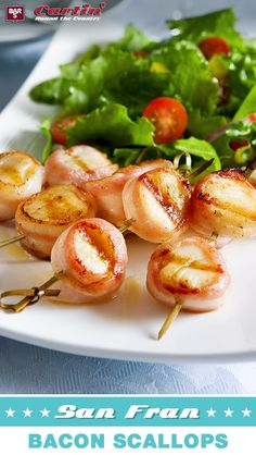 Fresh from the bay! Wrap up juicy scallops with Bar-S bacon and grill to perfection. Repin for your chance to WIN free Bar-S!