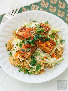 Grills Gone Vegan: Chimichurri Quinoa + Grilled Tofu