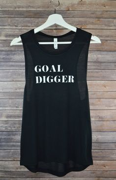 Goal Digger Muscle Tank: Women's Flowy Gym by NextJeneration8