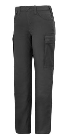 Make a good impression with these Women's Service Trousers. They feature plenty of room for company profiling, even on the large pockets. They are available in four contemporary colors and sizes 18-22, 32-54 and 76-92. - Snickers Workwear Artnr. 6700