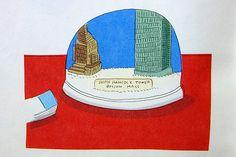 安西水丸さんの好きなスノードームの挿絵