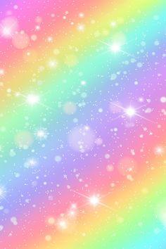 Glitters Rainbow Sky Shiny Rainbows Pastel Color Magic Fair