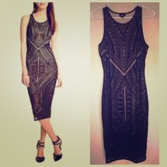 All over lace midi dress like new! offers accepted smoke free home only worn once cute see through dress, creates the perfect hourglass shape, razor back. Mossimo Supply Co Dresses Midi