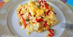 Arroz con bacalao: http://www.cocina.es/2013/07/15/receta-arroz-con-bacalao/ #recetas #recipes