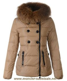 Moncler Herisson Fashion Womens Jacket Short Khaki Onlin
