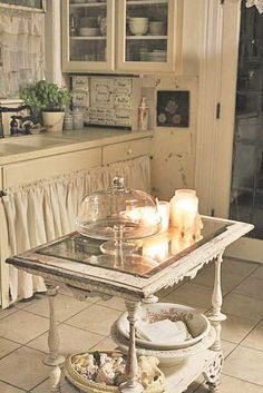 romantic kitchen posts - Magical Home Inspirations