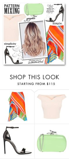 """""""MIXING"""" by stranjakivana ❤ liked on Polyvore featuring Lauren Ralph Lauren, Diane Von Furstenberg, Valentino, CO and patternmixing"""