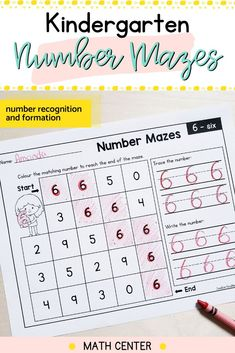 These math activity pages will reinforce number recognition and number formations. Use these easy prep printable math centers to work on numbers 0 to 9.