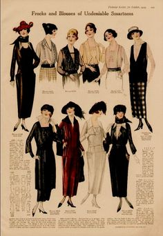 Age: These are original magazine advertisement page. Please see scan for more details on the entire ad. SALES TAX: California residents please ad sales tax. 1920s Fashion Women, Edwardian Fashion, Vintage Fashion, Womens Fashion, Fashion Fashion, Moda Retro, Moda Vintage, Vintage Hats, Historical Costume