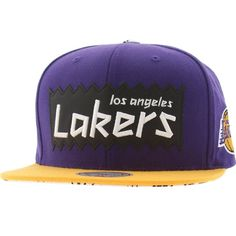 BAIT x NBA x Mitchell and Ness Los Angeles Lakers STA3 Wool Snapback Cap (purple / gold) NQ35Z-5LAKERPGD - $25.99