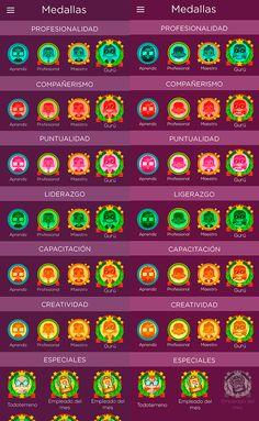 360 on Behance #badges #awards #gamification #mobile #apps #ui #illustration