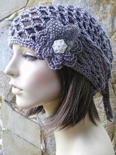 hand crochet bandana dorag hat kerchief gypsy pirate by annmag, $35.00