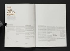 Annual Report Design Inspiration - Love the white box in the text - Publication Design and Layout