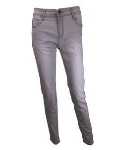 Grijze rekbare skinny broek van BS Jeans met perfecte pasvorm en een lichte wassing. http://www.beyou-dameskleding.nl/