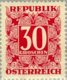 Znaczek: Digit in square frame (Austria) (Postage Due) Mi:AT P239,Sn:AT J239,Yt:AT P235,ANK:AT P239