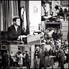 """@get1later Instagram photos   Websta - #FBF on June 11, 1963 President John Kennedy Spoke to The Country to Announce His proposed Civil Rights Act Bill (of 1964). The address transformed civil rights from a legal issue to a moral. The speech was ALSO in response to the U.S. National Guard being sent to protect two African American students Vivian Malone and James Hood enrolling at the University of Alabama. President Kennedy stated the National Guard was at the college """"to carry out the…"""