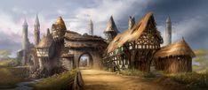 village fantasy Recherche Google Fantasy village Fantasy city Concept art