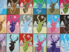 https://flic.kr/p/ib4aLW | Reindeer Holiday Cards 2013 | * Handmade Holiday…