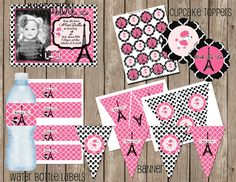 Paris Theme Invitation Girls Party by MissBlissInvitations on Etsy, $25.00