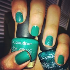 DIY manicure of the week: going green