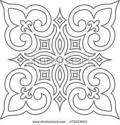 Geometric Islamic Pattern Arabesque blue and white. Geometric Islamic Pattern Arabesque blue and white. Geometric Islamic Pattern Arabesque blue and white. Stencil Patterns, Tile Patterns, Pattern Art, Islamic Patterns, Embroidery Patterns, Motifs Islamiques, Motif Arabesque, Free Motion Quilting, Mosaic Art