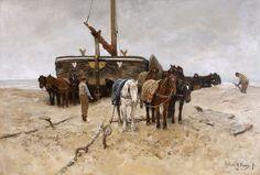 Anton Mauve - Bomschuit op het strand