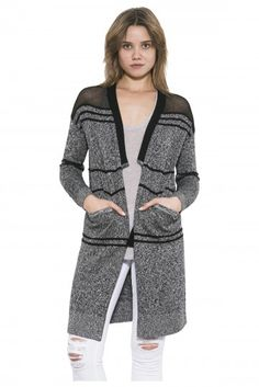 Kane by one grey day- The Kane cardi is a year-round must-have, lightweight but knitted in a warm wool, tencel and cotton blend. Knit Cardigan, Pullover Sweaters, Long Sleeve Sweater, Wool, Knitting, Grey, Cotton, Fall 2015, Stuff To Buy